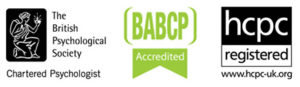 Psychologist Registration-Logos HCPC- BABCP - BPS